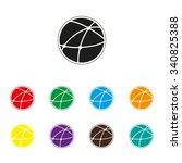 social network   color vector... | Shutterstock .eps vector #340825388