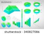 big set of flat infographics  ... | Shutterstock .eps vector #340827086