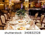 serving wedding table | Shutterstock . vector #340832528
