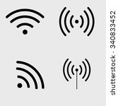 set of wi fi and wireless icons. | Shutterstock .eps vector #340833452