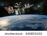 a depiction of the space... | Shutterstock . vector #340853102