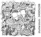 pattern for coloring book....   Shutterstock .eps vector #340856288
