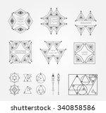 set of geometric shapes. trendy ... | Shutterstock .eps vector #340858586