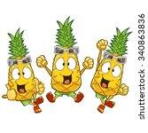 very adorable pineapple...   Shutterstock .eps vector #340863836