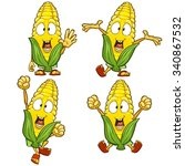 very adorable corn character... | Shutterstock .eps vector #340867532