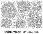 sketchy vector hand drawn... | Shutterstock .eps vector #340868756