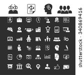 business optimization  icons ... | Shutterstock .eps vector #340869416