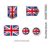 uk flag ribbon vector set | Shutterstock .eps vector #340870082