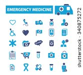 emergency medicine  icons ... | Shutterstock .eps vector #340875272