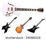 guitar set | Shutterstock .eps vector #34088326