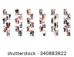 office culture achievement idea  | Shutterstock . vector #340883822