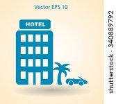 hotel vector illustration | Shutterstock .eps vector #340889792