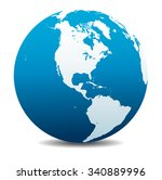 north and south america global... | Shutterstock .eps vector #340889996