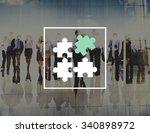 jigsaw puzzle partnership... | Shutterstock . vector #340898972