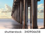 next  the pier looing out in... | Shutterstock . vector #340906658