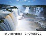 iguazu falls  brazil  argentina | Shutterstock . vector #340906922