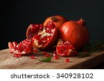 pomegranate fruit healthy food... | Shutterstock . vector #340928102