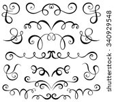 vintage decorative curls and... | Shutterstock .eps vector #340929548