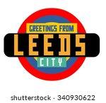 leeds in england is beautiful... | Shutterstock .eps vector #340930622