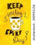 hand lettered inspirational... | Shutterstock . vector #340931156