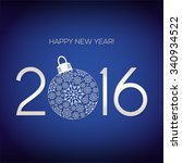 new year's card   2016 | Shutterstock .eps vector #340934522
