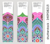 multicolored set of vertical... | Shutterstock .eps vector #340938215