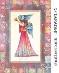 angel with trumpet | Shutterstock . vector #340939175