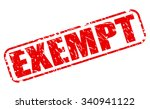 exempt red stamp text on white | Shutterstock .eps vector #340941122