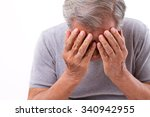 senior man suffering from... | Shutterstock . vector #340942955