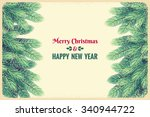 christmas horizontal background ... | Shutterstock .eps vector #340944722
