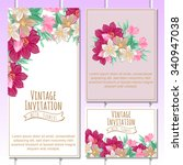 wedding invitation cards with... | Shutterstock .eps vector #340947038