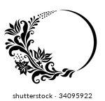 vector floral element | Shutterstock .eps vector #34095922
