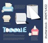 set of tissue paper.... | Shutterstock .eps vector #340971422