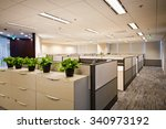 contracted office work place | Shutterstock . vector #340973192