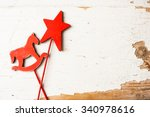 Christmas Toy Horse And Star O...
