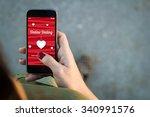 top view of woman walking in... | Shutterstock . vector #340991576