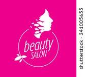 beauty female face logo design...   Shutterstock .eps vector #341005655