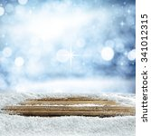 empty winter background for... | Shutterstock . vector #341012315