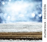 empty winter background for... | Shutterstock . vector #341012336