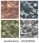 camouflage seamless patterns.... | Shutterstock .eps vector #341028506