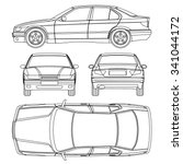 car line draw condition damage... | Shutterstock .eps vector #341044172
