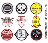set of ribbons  stickers ... | Shutterstock .eps vector #341046278