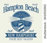light house typography  t shirt ...   Shutterstock .eps vector #341052002