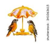 Two Little Birds Under Umbrella ...