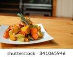 roast veggies  grilled... | Shutterstock . vector #341065946