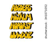 cartoon comic graffiti font... | Shutterstock . vector #341071052