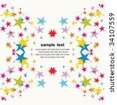 vector star background design   Shutterstock .eps vector #34107559