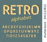 old style alphabet. retro type... | Shutterstock .eps vector #341112812