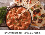 indian tikka masala chicken and ... | Shutterstock . vector #341127056