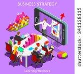 remote meeting corporate... | Shutterstock . vector #341128115